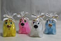 Собака Длинные уши маленькая / Свеча Новогодняя 5x3 см