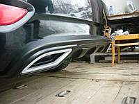 Диффузор заднего бампера (обманки черные) Hyundai Accent (2011-2017) AutoPlast