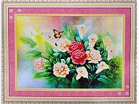 Набор для вышивки картины Бабочка в цветах 81х59см