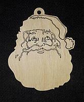 Красивая заготовка для новогоднего творчества, дерево, лазер, 9 см., 12/10 (цена за 1 шт. + 2 гр.)