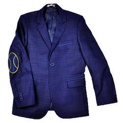Школьный пиджак для мальчика ALTUN синий в клетку (подросток)