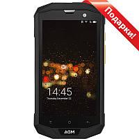 "➨Смартфон 5"" AGM А8, 4/64GB Black 4 ядра защищенный IP68 камера 13Мп батарея 4050 mAh GPS"