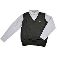 Рубашка-обманка темно-серого цвета CEGISA