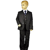 Школьный черный костюм для мальчика BOZER