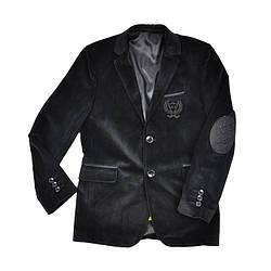 Школьный черный пиджак с латками BULUT