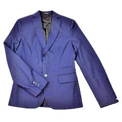 Школьный синий клетчатый костюм для мальчика BOZER
