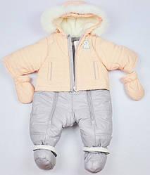 Зимний комбинезон для девочки Твикс Garden baby