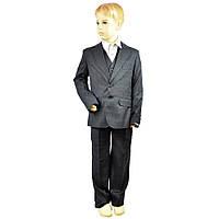 Школьный костюм для мальчика тройка черный Люкс BOZER