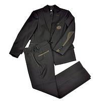 Школьный костюм для мальчика BOZER черного цвета с коричневым