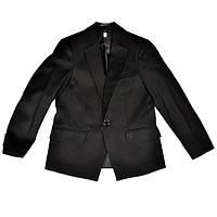 Школьный черный костюм-двойка с вышивкой для мальчика, BOZER