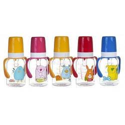 """Бутылка 120 мл с рисунком и ручкой , коллекция \""""Цветная ферма\"""" Canpol Babies"""
