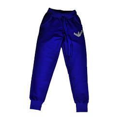 Спортивные брюки синего цвета для девочки, ARMANI