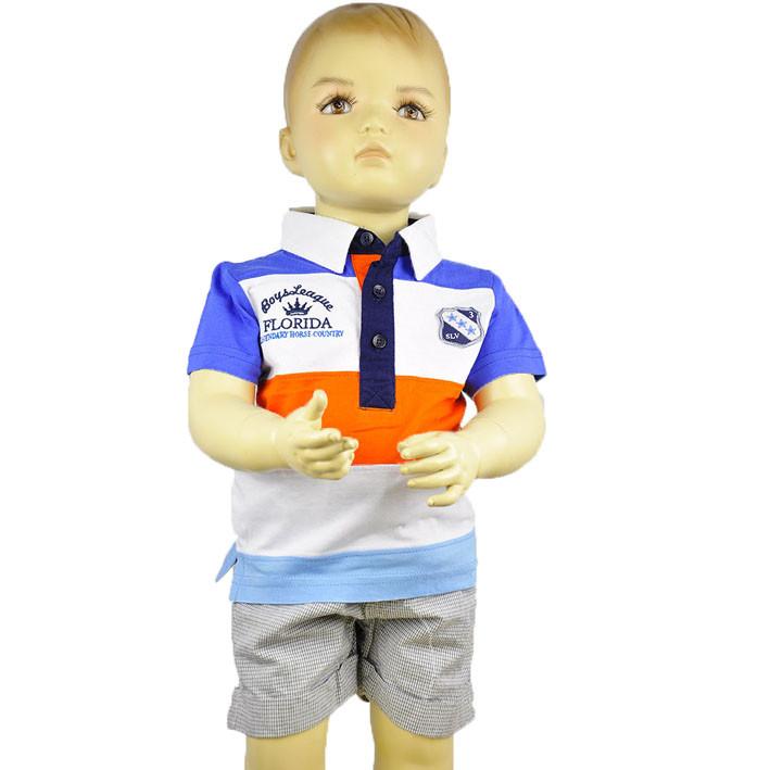 Детская футболка для мальчика полосатая Silver sun