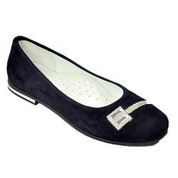 Замшевые туфли для девочки, синие TIFLANI 31 р.