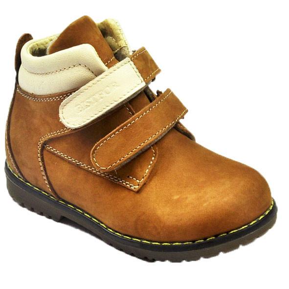 8e84d73fd Ботинки для мальчика демисезонные комбинированные коричневого цвета,  Bistfor - Интернет-магазин товаров для детей