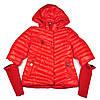 Красная детская куртка для девочки Moncler