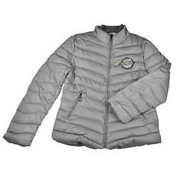 Серая стильная куртка для девочки.