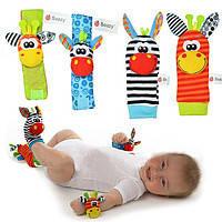Браслетики+носочки с игрушками-погремушками