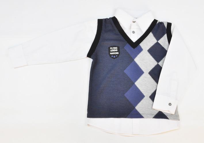 Рубашка-обманка с жилетом Marions