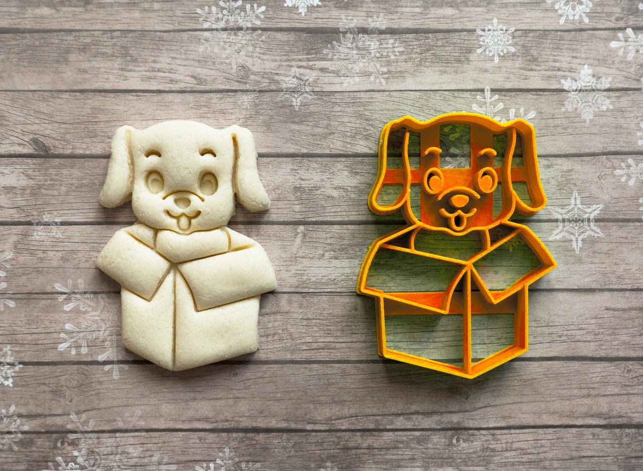 Собака в коробці - Форма для печива і пряників