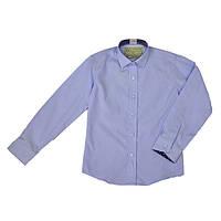 Классическая школьная рубашка сиреневого цвета для мальчика, ТМ Kniazhych