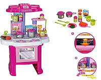 Детская игрушечная кухня 16641G (16 предметов: плита, духовка, мойка, посуда, продукты) Royaltoys