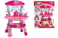 Кухня 661-81 со светом и звуком в коробке (детская игрушечная кухня, плита + посуда) Royaltoys