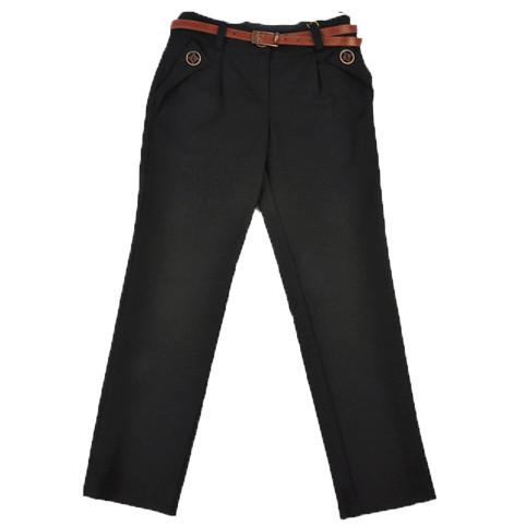 Школьные брюки для девочки черные Джанет Suzie