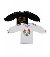 Блуза для девочек вишиванка с длинным рукавом Артикул 38.0511