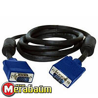 Кабель Atcom (7789) VGA-VGA HD15M/HD15M с 2-мя фер. кольцами 1.5м черный