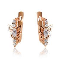 Золотые сережки із фіанітами Г40872