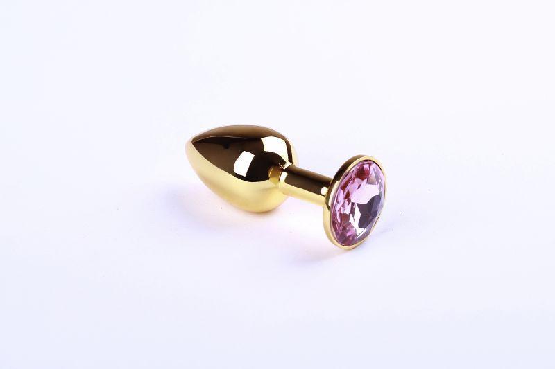 Анальная пробка,Gold Pink Topaz,S