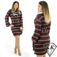 Бордовое платье 15415, батал