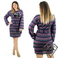 Сиреневое платье 15415, батал