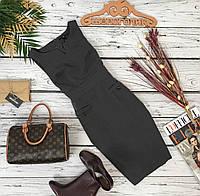 Приталенное деловое платье H&M со вшитым поясом и декоративными карманами   DR4958