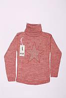 Вязанный свитер под горло для девочек  (10-15 лет), фото 1