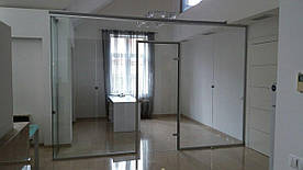 Стеклянная перегородка с дверной фурнитурой Palermo в офисе