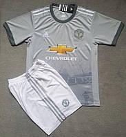 Футбольная форма Манчестер Юнайтед безномерная,  резервная сезон 2017/2018
