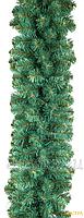 Гирлянда из искусственной хвои длинной 3 м диаметром 23 см - голубая