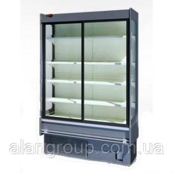 Пристенная холодильная витрина Индиана cube AD с энергосберегающими дверями