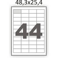 Самоклейка А4 48,3х25,4 (44 на листе)