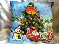 Яркая подушка-светяшка к Новому Году!
