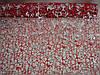 Ажурная сетка красная с серебром на метраж, лист 0,5*0,5 м