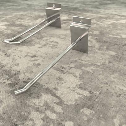 Хромированные крючки  для эконом панели 100 мм