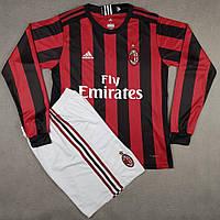 Футбольная форма Милан безномерная, домашняя сезон 2017/2018 длинный рукав