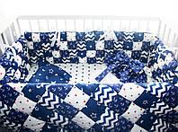 Бортики в кроватку для новорожденных на 4 стороны, фото 1