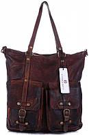 Женская большая сумка VITTORIA GOTTI из натуральной кожи, коричневого цвета MADE IN ITALY