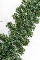 Гирлянда декоративная из хвои длиной 3 м диаметром 23 см - зеленая