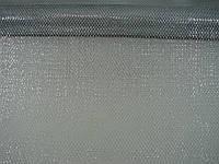 Сетка серебряная металлизированная на метраж(по типу кольчуги) шириной 70 см