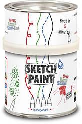 Маркерная краска Sketchpaint 0.5л 3кв.м. белая прозрачная